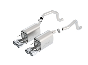 Borla 09-13 C6 Corvette Touring Axle-Back Exhaust w/ Quad Rolled Round 4