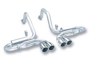 Borla 97-04 C5 Corvette S-type Axle-Back Exhaust w/ Quad Rolled Round 4