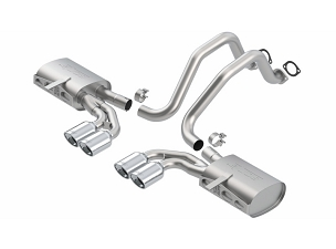 Borla 97-04 C5 Corvette Touring Axle-Back Exhaust w/ Quad Rolled Oval 4