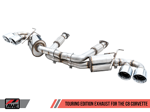 AWE 2020+ C8 Corvette Touring Exhaust w/ Quad 4.5