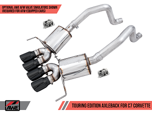 AWE 14-19 C7 Corvette Touring Axle-Back Exhaust w/ Quad 4.5