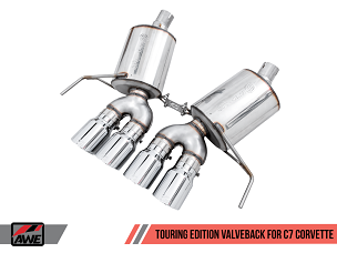 AWE 14-19 C7 Corvette Touring Valve-Back Exhaust w/ Quad 4.5