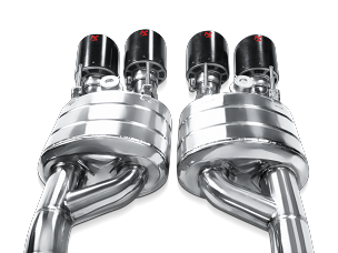Akrapovic 06-11 C6 Corvette Z06/ZR1 Cat-Back Exhaust w/ 125mm Carbon Tips